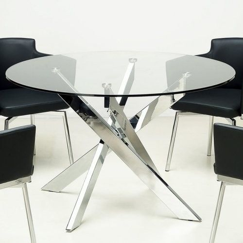 chintaly dusty round glass dining table contemporary dining tables