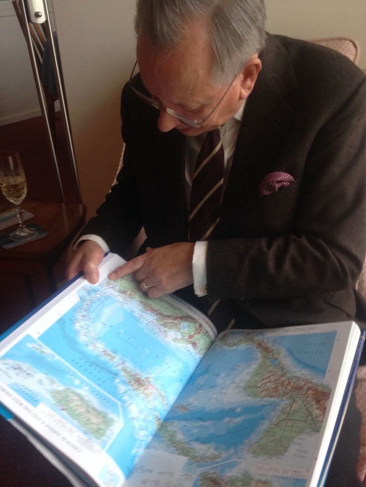 My Father pondering his next cruise