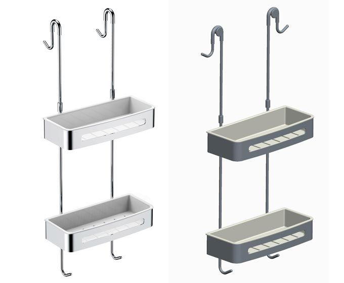 Captivating Over Door Hanging Basket Double Shelf Shower Caddy
