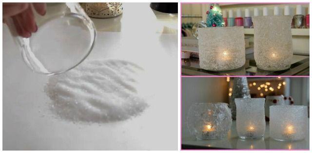 Készítsünk gyönyörű karácsonyi díszt befőttesüvegből és konyhasóból