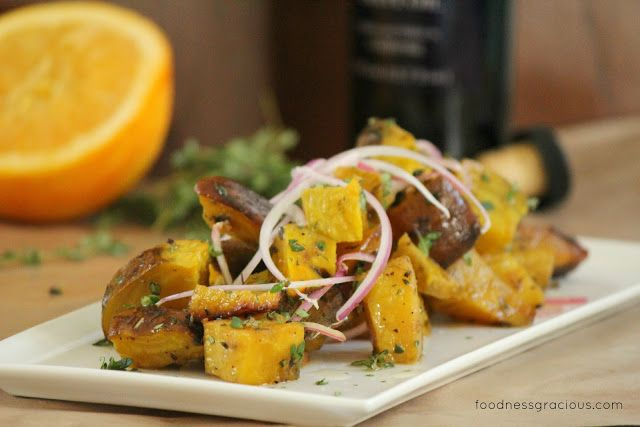 Roasted Golden Beet Vegetables with an Orange Vinaigrette | Foodness Gracious