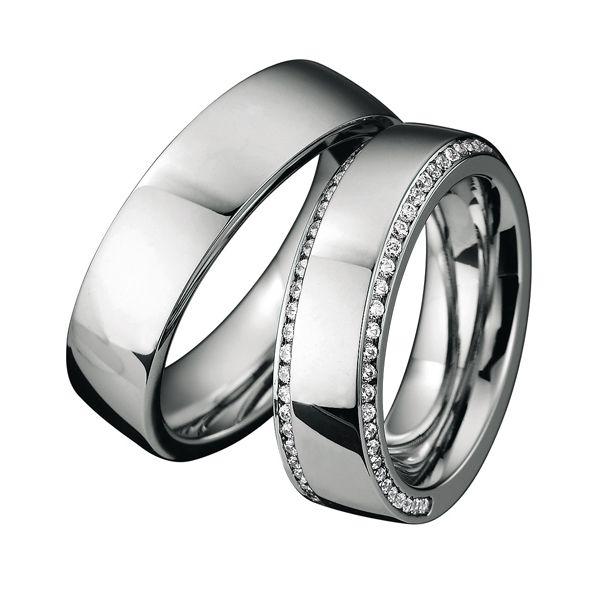 Alianzas de boda Saint Maurice de la colección Infinity, en oro blanco.  Ref.: 49-88037/137  #boda #alianzas #SaintMaurice #anillos