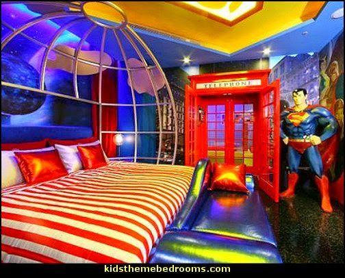 Perfect Superman Bedroom Ideas Kids Theme Bedroom Decorating