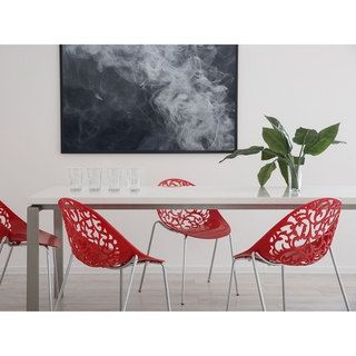 Beliani Mumford Red Dining Chair