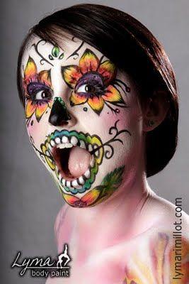 dia de los muertos face paint - Google Search
