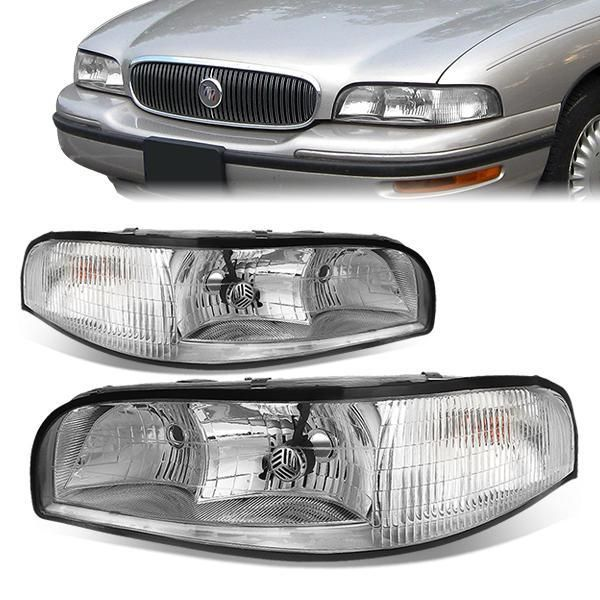 D Motoring 97 99 Buick Lesabre Headlights Chrome Housing Plug N Play Pair Buick Lesabre Buick Headlights