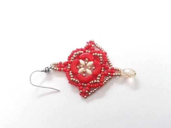 Guarda questo articolo nel mio negozio Etsy https://www.etsy.com/it/listing/519890295/orecchini-rossi-orecchini-arcos-rosse
