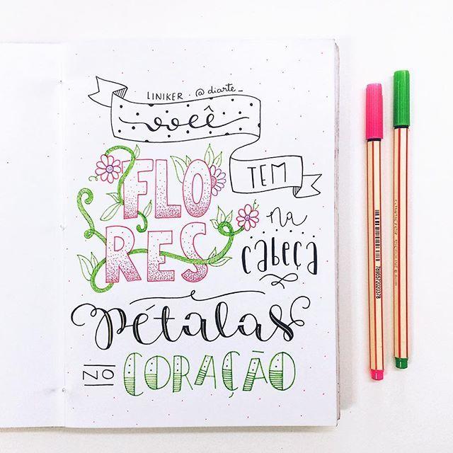 tem raízes nos olhos, excitação. acalanta o meu coração ✨ . . . . #sketchbookdiarte #diarte_ #handlettering #lettering #handmade #type #vscocam #liniker #music #art #flowers