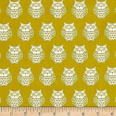 Papillon Owls 100% Cotton Fabric by Makower  FQ