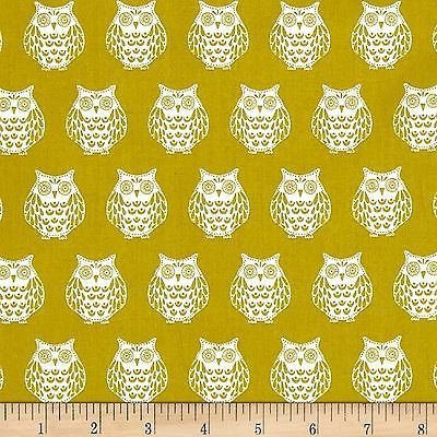 Papillon Owls 100% Cotton Fabric by Makower  FQ