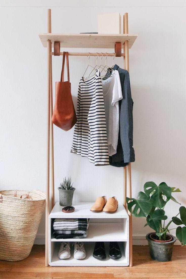 Schicke und praktische DIY-Kleiderständer, die Ihre Garderobe zur Schau stellen