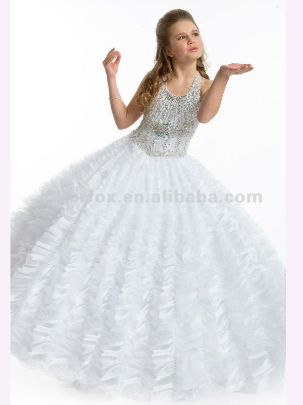 G stage long dresses for kids