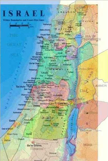 Land Of Israel Bible Mapping Map Biblical