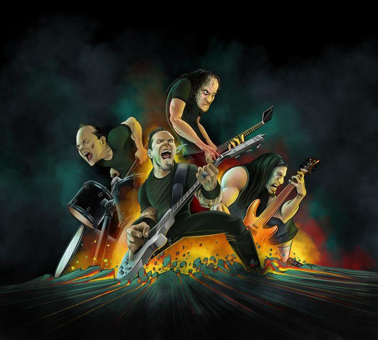 Metallica! James Hetfield, Lars Ulrich, Kirk Hammett and Robert Trujillo. Thanks for writing pissed off music.