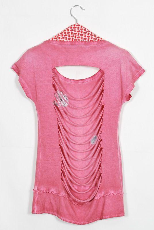 Pink women's wear - back view