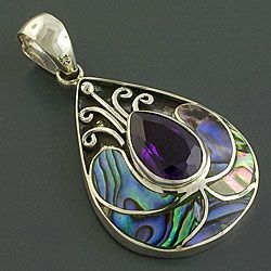 Mono@Overstock - Pendant is the perfect addition to your wardrobe  Handmade jewelry is handcrafted by artisans from Indonesia  Handcrafted pendant made of .925 sterling silver, amethyst and rainbow abalonehttp://www.overstock.com/Worldstock-Fair-Trade/Sterling-Silver-Amethyst-Rainbow-Abalone-Pendant-Indonesia/4117257/product.html?CID=214117 $52.99
