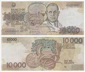 10.000 Escudos, 1989