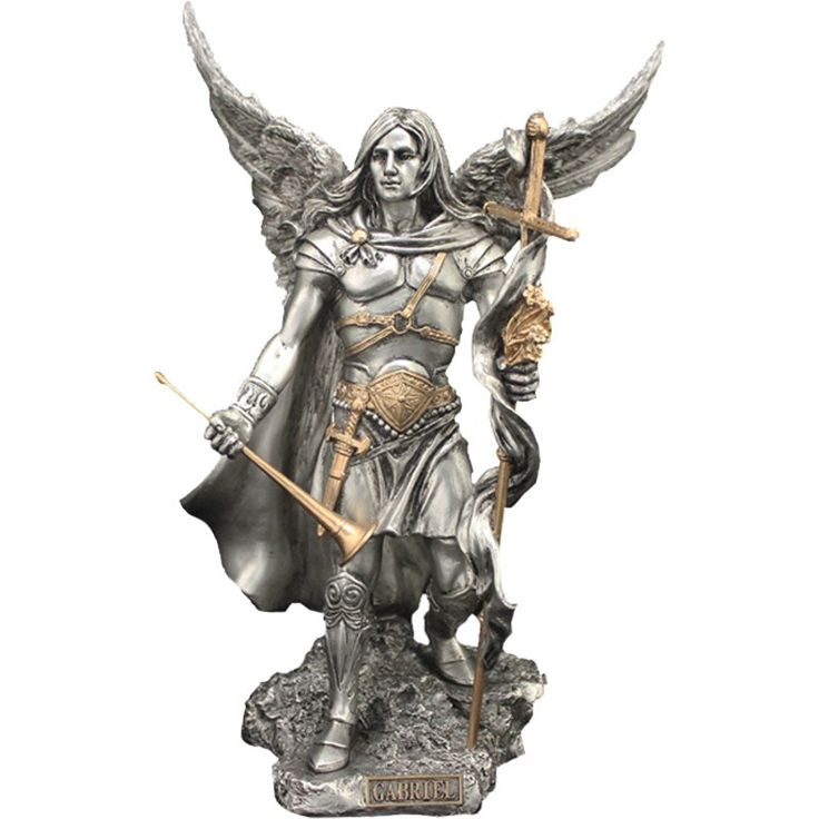 Lucifer Azrael: St Gabriel Pewter Veronese Statue