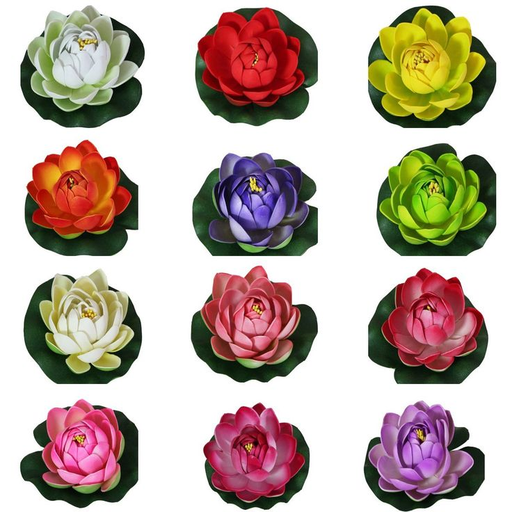 12pcs 10cm Artificial Colorfulife® EVA Lotus Floating Water Lily Mini Foam Flower Head Bud Pool Fish Tank Pond Home Garden Decoration * Want additional info? Click on the image.