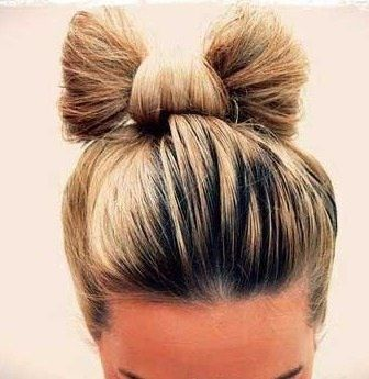 Best Bow Bun Images On Pinterest Bow Buns Bows And Hair Beauty - Hairstyle bun with bow