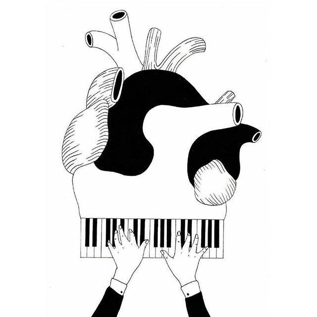 Love is music. Ilustración de Filippo Spinelli - - @philspinelli - - #ilustración #illustration #art #arte #cultura #CulturaColectiva