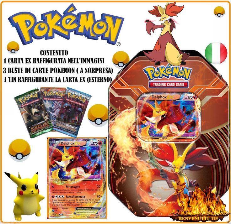 POKEMON TIN DELPHOX EX XY19 PROMO IN ITALIANO NUOVO PREZZO SPECIALE !!