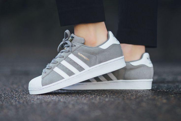 adidas Superstar Suede Solid Grey Sneaker