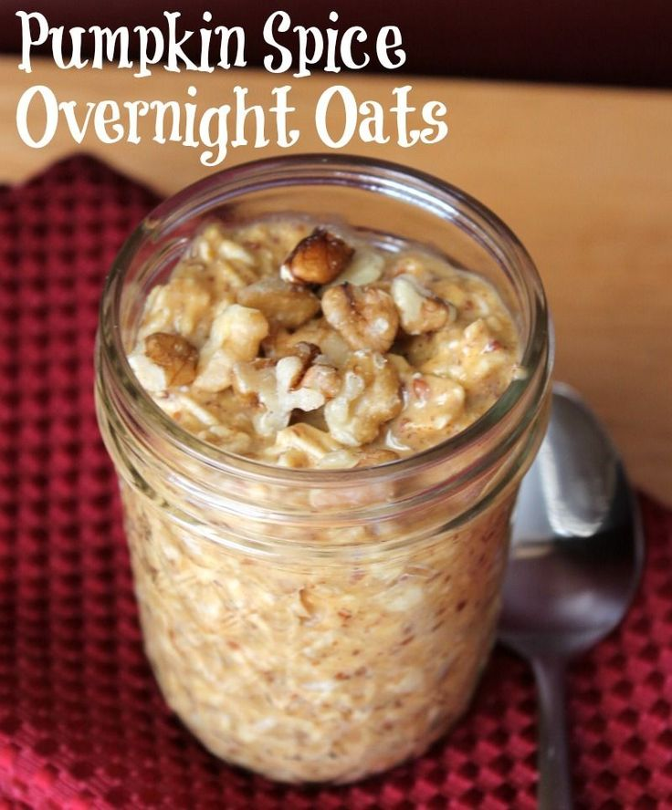 Pumpkin Spice Overnight Oats. 254 calories and 7 weight watchers points plus.