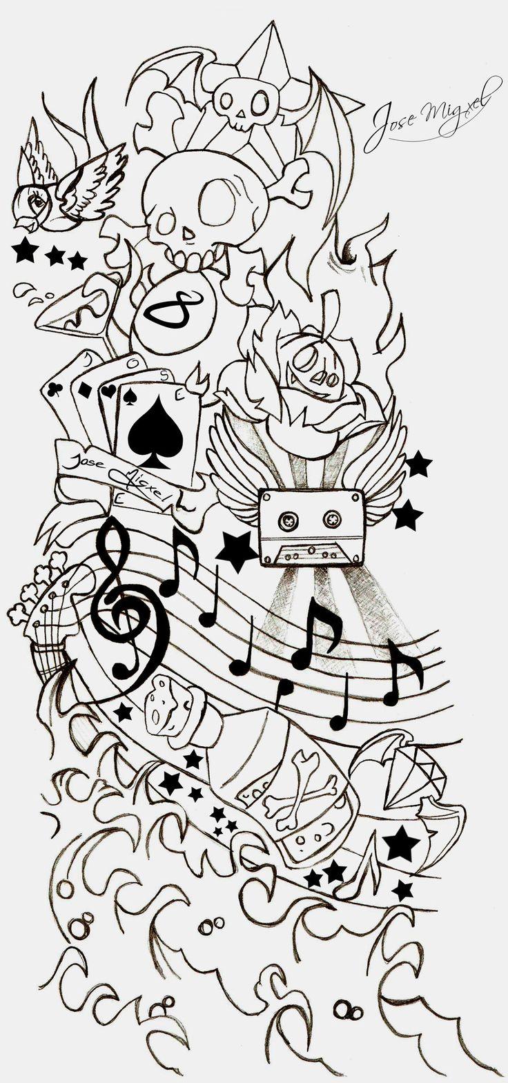 New school tattoo design - New School Tattoo Stencils Bing Images