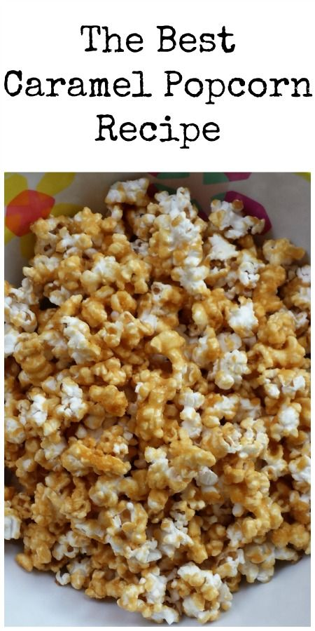 The Best Caramel Popcorn Recipe. Make with natural corn syrup replacement.