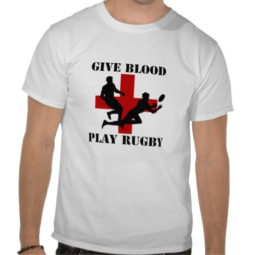 Give Blood Play #Rugby #Tees from #Ricaso