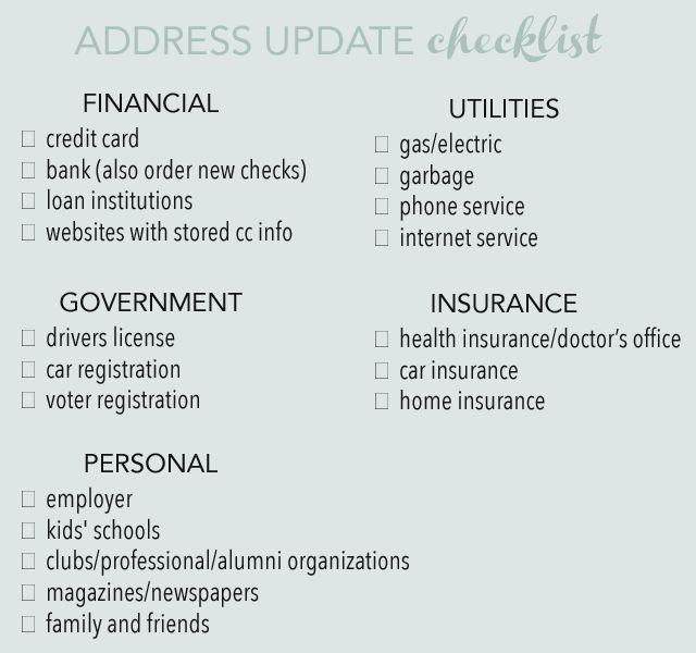 25+ unique Change your address ideas on Pinterest Change address - printable change of address form