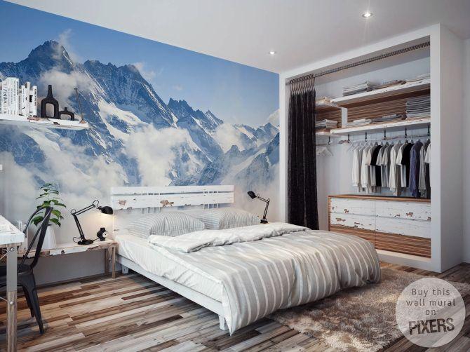 Wall Mural Alps - inspiration wall mural, interiors gallery• PIXERSIZE.com