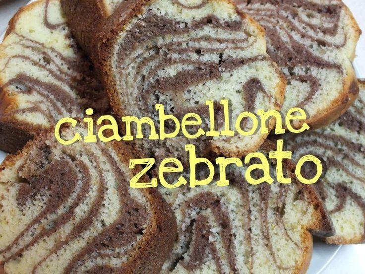 Ricetta per il ciambellone zebrato. L'impasto è quello classico del ciambellone bicolore, ma la tecnica ci permette di ottenere delle strisce da zebra!
