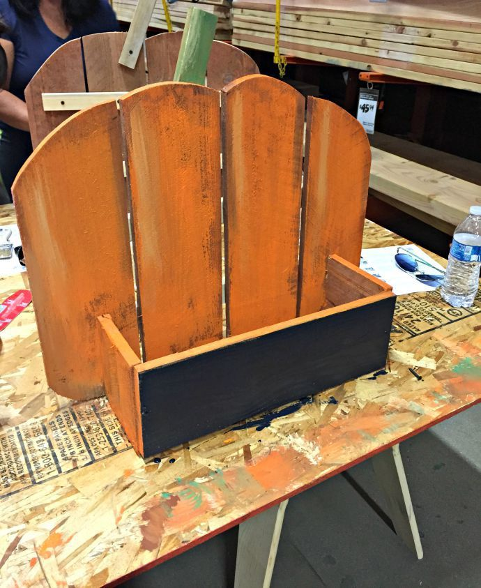 rustic pumpkin stand painted