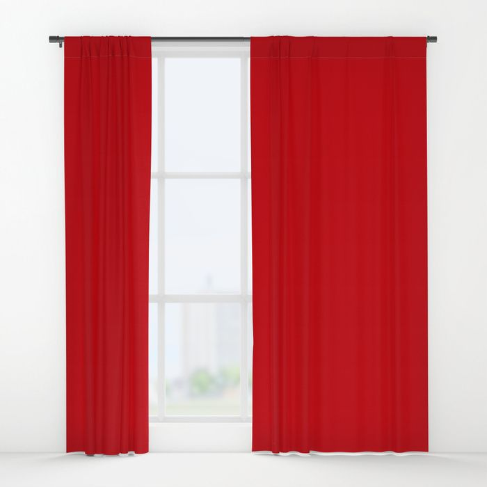 Valiant Bright Red Poppy 2018 Fall Winter Color Trends Window Curtains Showercurtain Homedecor