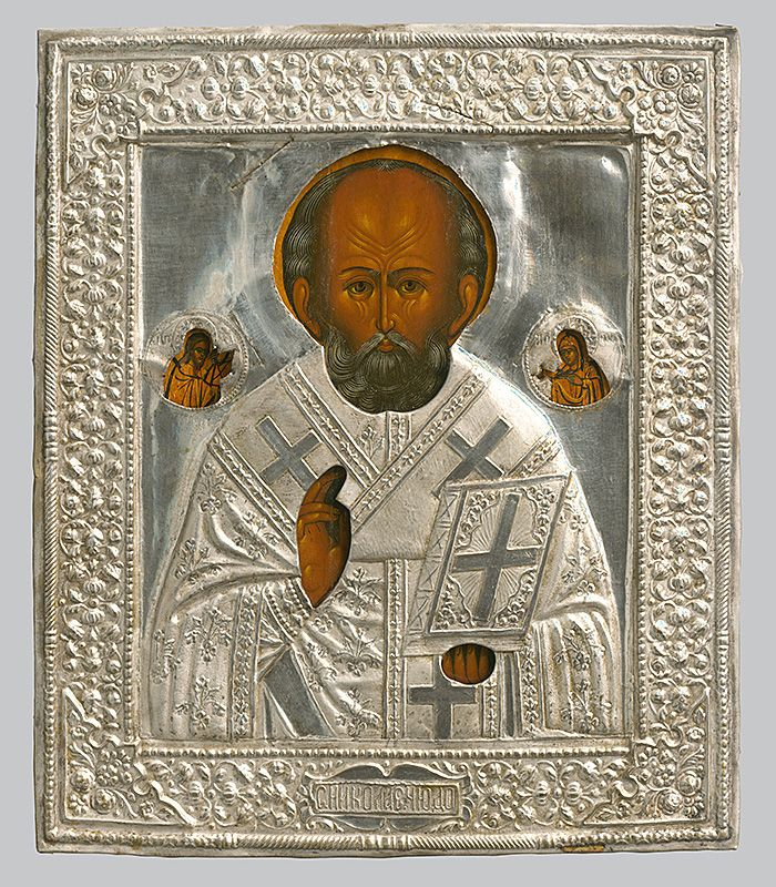 Saint Nicholas, Iconography, 1885/1900. Slovak National Gallery, CC BY