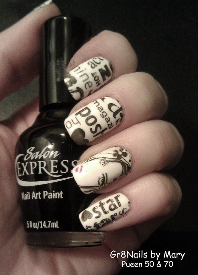 102 best pueen nail art images on pinterest enamels make up and nail stamping with pueen plates prinsesfo Choice Image