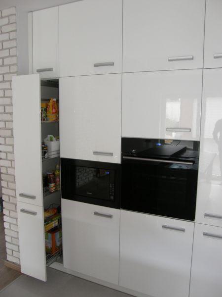 Meble kuchenne - realizacja FILMAR meble www.filmarmeble.pl   #szuflady #meblekuchenne #kuchnia #biała
