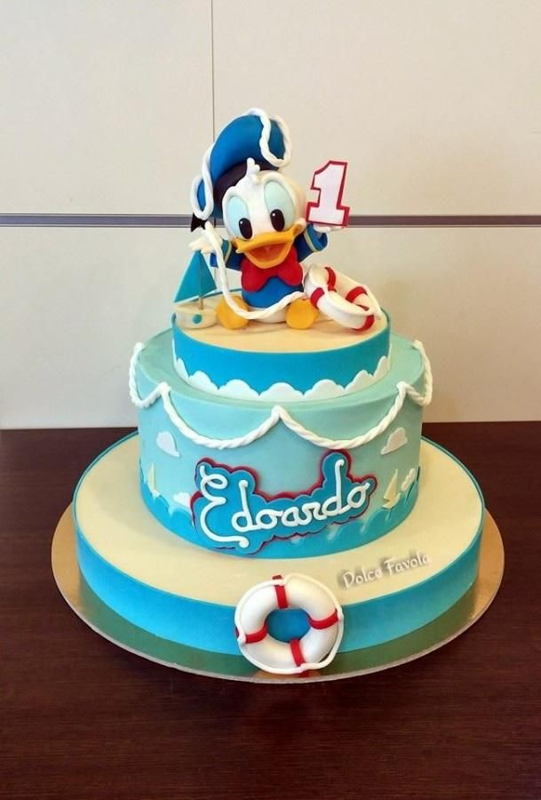 Baby Donald Duck cake - Cake by simonelopezartist