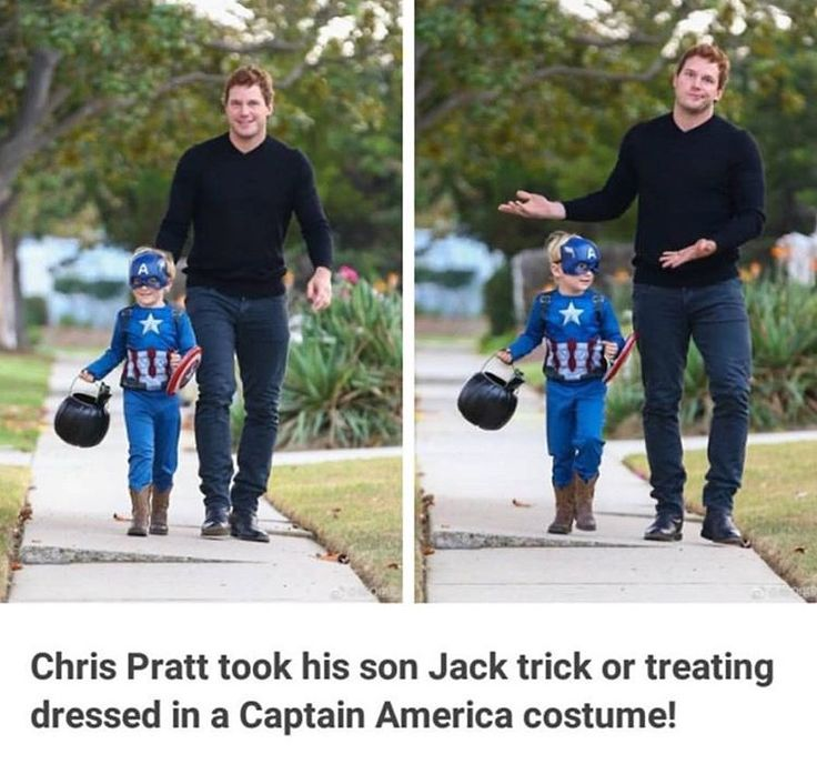 Awwwwww... and it makes even more sense because Chris Evans is friends with Chris Pratt