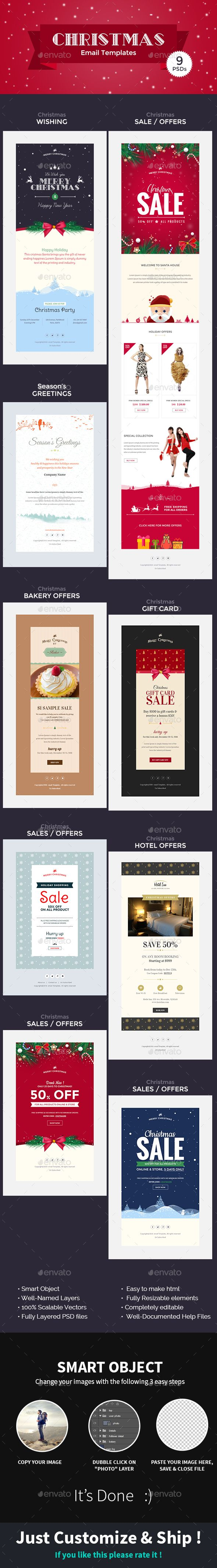 Christmas - Offers/Greetings Email Template PSD