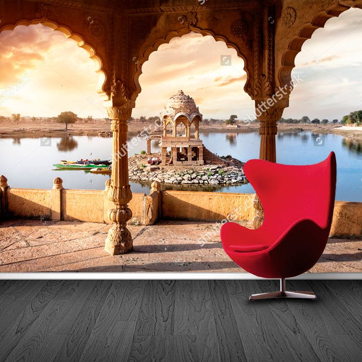 Fotobehang Gadi Sagar | Maak het jezelf eenvoudig en bestel fotobehang voorzien van een lijmlaag bij YouPri om zo gemakkelijk jouw woonruimte een nieuwe stijl te geven. Voor het behangen heb je alleen water nodig!   #behang #fotobehang #print #opdruk #afbeelding #diy #behangen #azie #india #indisch #gadisagar #architectuur