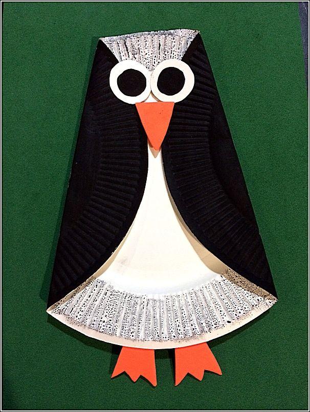 Onderwijs en zo voort ........: 2120. Dieren van papieren bordjes : pinguin