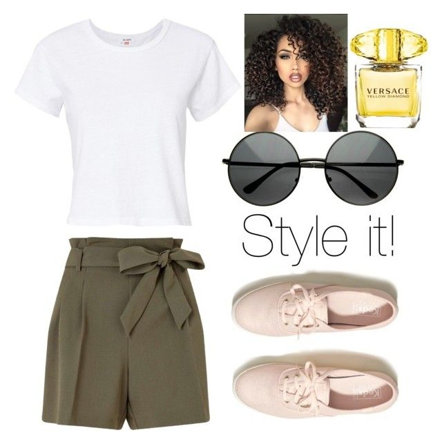 """""""Simpel style🌺"""" by alice12 on Polyvore featuring Miss Selfridge, RE/DONE, Hollister Co., ASAP and Versace"""