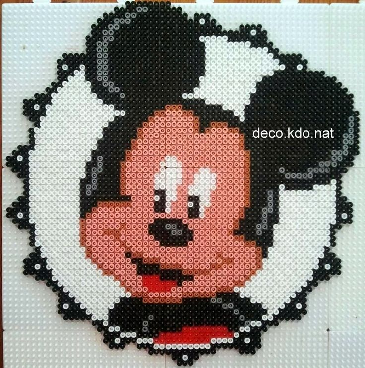 Mickey Mouse portrait hama perler beads by DECO.KDO.NAT