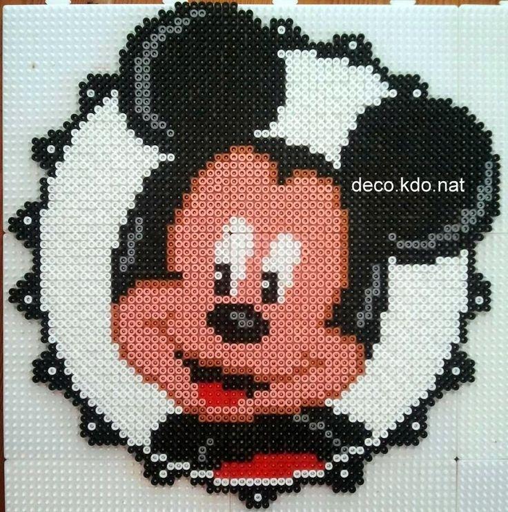 Mickey Mouse portrait hama perler beads by DECO.KDO.NAT