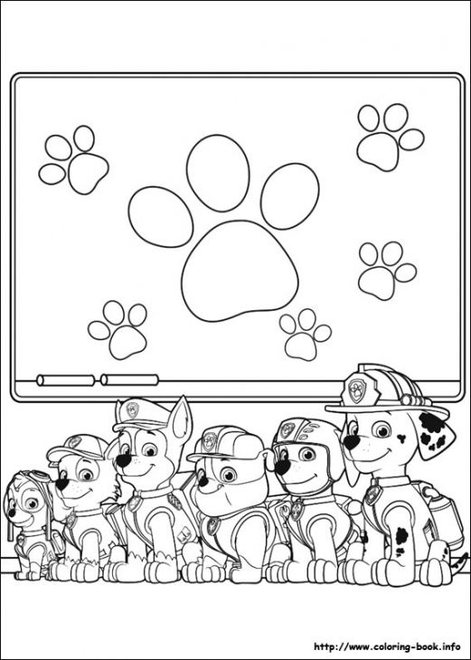 all puppies from paw patrol online coloring page - Online Book Pages