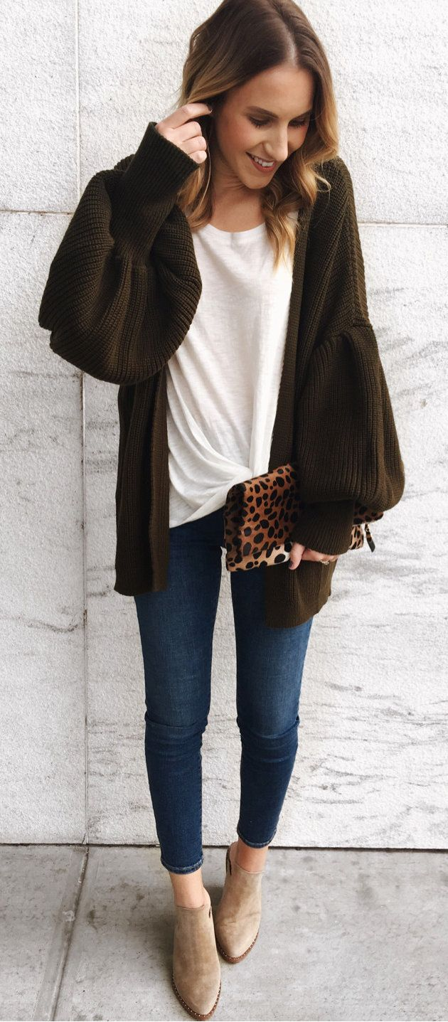 The 25  best Brown cardigan outfit ideas on Pinterest | Cardigan ...