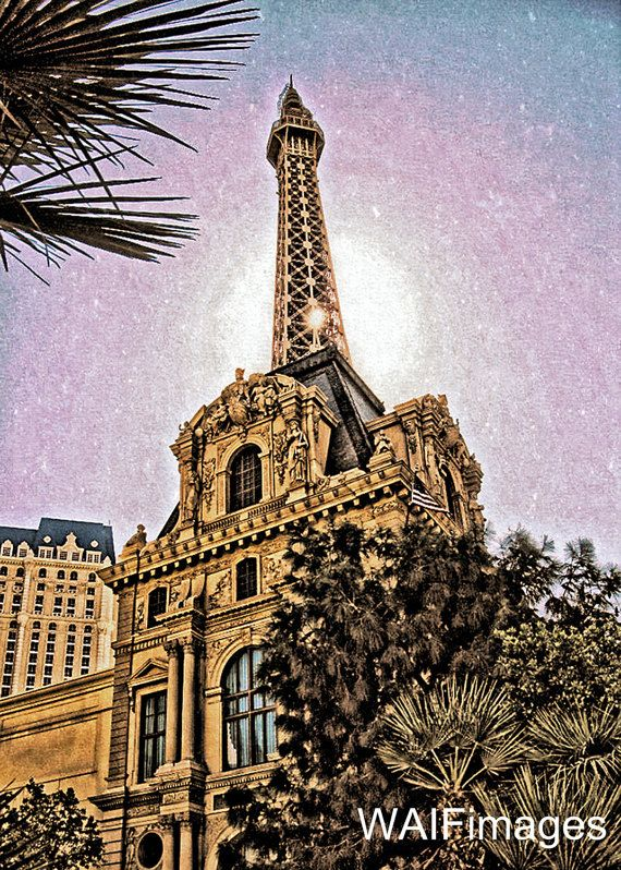 Paris Las Vegas  a digital image of the Paris Casino by WAIFimages